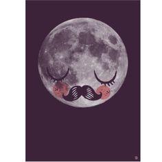 Poster Moon – Für Neil by Martin Krusche
