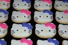 #TuFiestaTipInfantil -Galletas decoradas con cobertura de fondant muy atractivas para las niñas que el gusta kitty.
