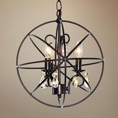 "Maxim Orbit 12"" Wide 3-Light Oil Rubbed Bronze Mini Pendant - #5V726 