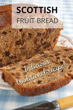 bread recipes sweet A yummy fruit bread recipe that's been handed down through my Scottish family for generations. Moist, sweet and delicious. try it today. Scottish Bread Recipe, Scottish Recipes, Irish Recipes, Sweet Recipes, Scottish Desserts, Irish Bread, Jamaican Recipes, Bread Recipes, Baking Recipes