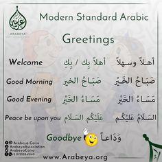 Greetings in Arabic language