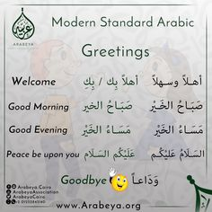 Greetings in Arabic language