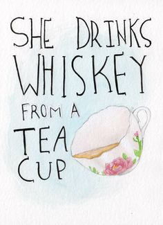 Umm.. theres nothing wrong with that, everything tastes better from a teacup! ;)