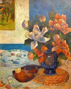 Paul Gauguin. Still Life with Mandolin