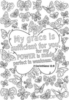 14 Bible verse coloring pages for grown ups. See the link for more.