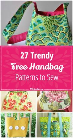 e1ce4174784a Make and sew your own handbag with these 27 free patterns. They make a great