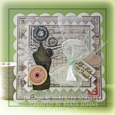 Grandma's Attic Background Stamp Card designed by Beate Johns