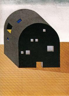 Italian architects convert Ettore Sottsass sketch into barrel-vaulted pavilion