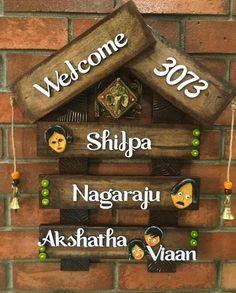 Wooden Name Plates, Door Name Plates, Name Plates For Home, Personalized Name Plates, Name Plate Maker, Office Name Plate, House Number Plates, Name Plate Design, Wooden Hut