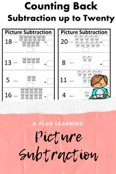 This counting back strategy for subtraction is a great way for your students to practice and solve subtraction problems.This resource include 12 subtraction worksheets. They are in black and white.Check out our other Math resources below:Math resources. School Resources, Classroom Resources, Math Resources, Math Activities, Classroom Organization, Classroom Management, School Stuff, Back To School, Teaching Posts