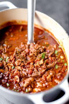 Fantastiskt god Chiligryta - 56kilo.se - Recept, inspiration och livets goda Beef Recipes, Cooking Recipes, Healthy Recipes, Food Porn, Recipes From Heaven, Lchf, Food Blogs, Food Inspiration, Love Food