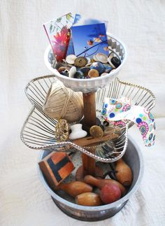 Cute little diy tiered knick knack collector...