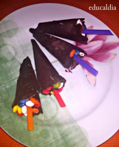 EDUCALDIA: Cocinar con niños: Paraguas de chocolate