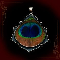 Peacock Pendant.... This looks sooo pretty when its actually being worn