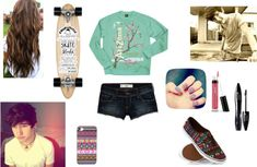 """Skateboarding with boyfriend, Jc Caylen"" by morejennyplease on Polyvore"