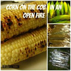 Corn on the Cob in an Open Fire