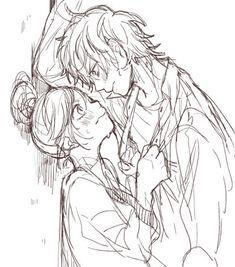 Yuu and Natsuki ♡ Zutto Mae Kara Suki Deshita~ Sketches, Couple Drawings, Drawings, Manga Couple, Awesome Anime, Manga Love, Art, Anime, Anime Drawings