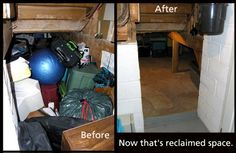 Been trying to figure out a way to get more stuff in thew crawl space. How about taking something out of it - like everything?