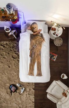 J. Kids' Snurk Star Wars Chewbacca Bedding