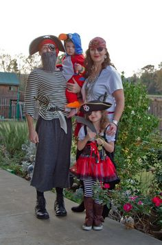 Simply dress head to toe in pirate garb, add some eye patches, and your family is ready for Halloween. And ...