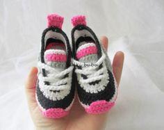 Crochet baby sneakers crochet baby shoeshandmade by galiacrochet