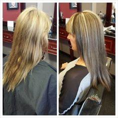 Highlighted Hair for fall. Long Hair Styles.