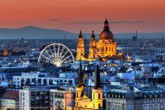 Budapest | Budapest Eye & St. Stephen's Basilica. credit: Mark Mervai Photography. view on Fb https://www.facebook.com/BudapestPocketGuide #budapest #travel