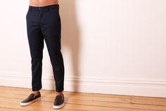 NEUW 'Rude Boy' Cropped Pants NAVY WOOL