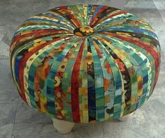 This tuffet made by S. Cully of OZCN using P&B Textiles Silvia's Sonnet. We're selling this fabric on our Etsy and EBay boards. It made a beautiful tuffet!