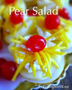 Southern   Cooking with K: Pear Salad {Granny's Recipe}