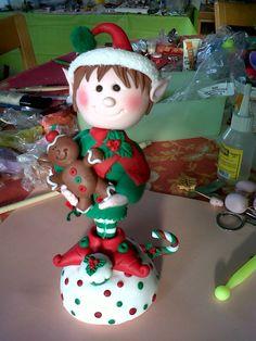 Este lo hice yoooooo......no es bellooo??!!Un Elfo en Masa Flexible porcelana fria polymer clay