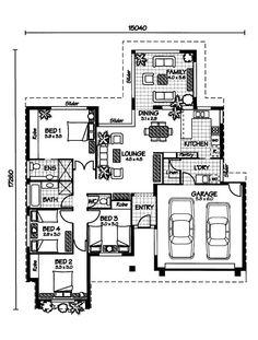 "The whitsunday "" australian house plans matula Free Floor Plans, Modern House Floor Plans, Free House Plans, Australian House Plans, Australian Homes, Usa House, House Construction Plan, Fantasy House, House Drawing"