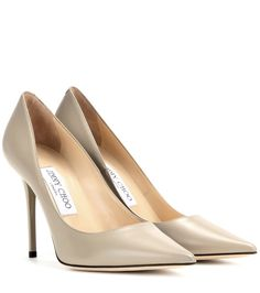 Jimmy Choo - Abel leather pumps - Jimmy Choo continues to be one of the most sought-after names in the world of footwear. No wonder, with classic designs like the 'Abel' that will never go out of style. Team these elegant taupe leather pumps with an all-black look. seen @ www.mytheresa.com