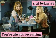 You're always recruiting. #Greek #Sorority #Recruitment #Rush