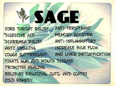 Sage! What are the health benefits of using the herb sage as a natural medicine | Patient Talk