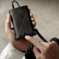 Fancy - Leather iPhone Case by Hard Graft