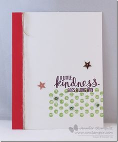 Quick and Easy Thank You card with Kinda Eclectic | by Jennifer Blomquist - Northwest Stamper