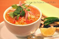 Mexico in My Kitchen: Sopa de Fideos con Pollo Receta / Mexican Vermicelli Soup with Chicken and Vegetables       |Authentic Mexican Food Recipes Traditional Blog