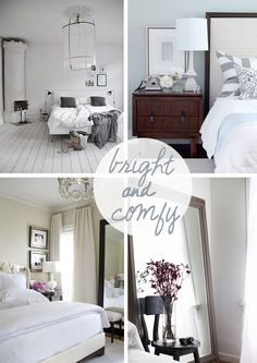 inspiration for our master bedroom #bright #comfy
