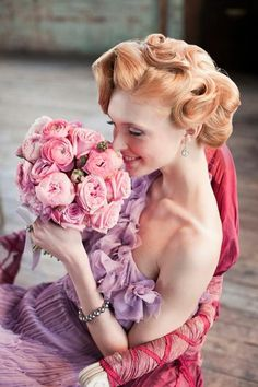 Fairy Wedding Dress and Hairstyle ♥ Finger and Marcel Waves Wedding Hairstyle