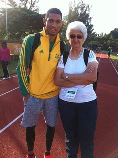Nurturing:Known affectionately as 'Tannie Ans' to her athletes – Tannie meaning Auntie in her first language Afrikaans – has given van Niekerk 'a positive environment to train in.'