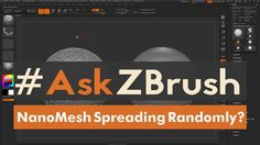 """#AskZBrush: """"Why do my NanoMeshes sometimes spread randomly across my model?"""" Ask your questions through Twitter with the hashtag #AskZBrush. Our team of ex..."""