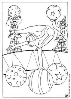 Coloriage GRATUIT CIRQUE - Coloriage d'un acrobate