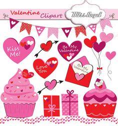valentine clip art banner