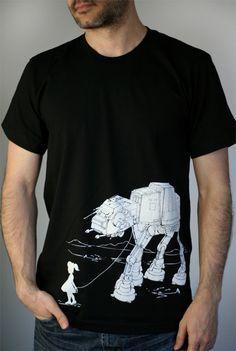 My Star Wars ATAT Pet  American Apparel Mens tshirt by ironspider
