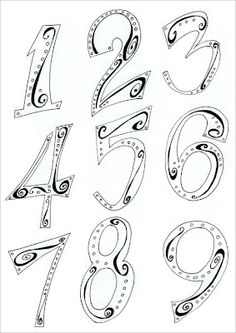 Hand Lettering Numbers