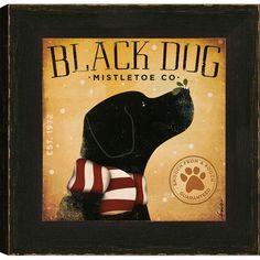 Black Dog Mistletoe Co. Framed Print.