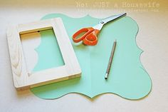 DIY tutorial- make frames like Organic Bloom's...but much, much cheaper!