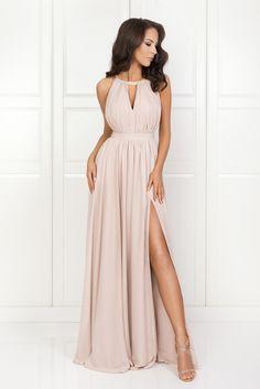 ELISA nude Bridesmade Dresses, Grad Dresses, Nice Dresses, Wedding Dresses, Maid Of Honour Dresses, Maid Dress, Neutral Long Dresses, Summer Formal Dresses, Crinoline Dress