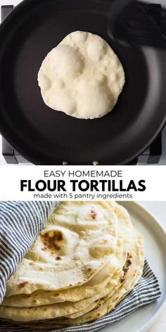 mexican food recipes Love those fresh and soft flour tortillas from your favorite Mexican restaurant Now you can make your own at home! These delicious homemade flour tortillas are easy to make, pliable yet sturdy, wont rip and only require 5 ingredients! Mexican Dishes, Mexican Food Recipes, Healthy Recipes, Haitian Recipes, Healthy Snacks, Healthy Breakfast Foods, Eating Healthy, Easy Breakfast Ideas, Easy Lunch Ideas